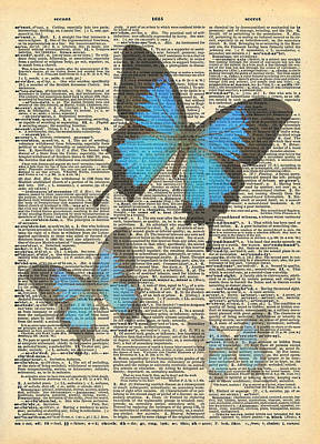 Jules Mixed Media - Secret Butterfly 1 by Marcus  Jules