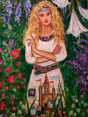 Secret Castle Garden Art Print by Kimberly Van Rossum