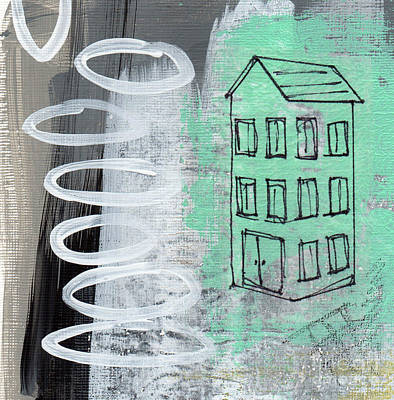 Urban Landscape Mixed Media - Secret Cottage by Linda Woods