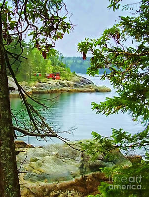 Old Caboose Photograph - Secret Cove by Diana Cox
