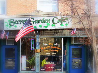Photograph - Secret Garden Cafe by Kay Novy