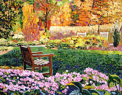 Painting - Secret Garden Chair by David Lloyd Glover