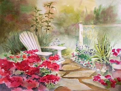 Painting - Secret Garden by Richard Willows