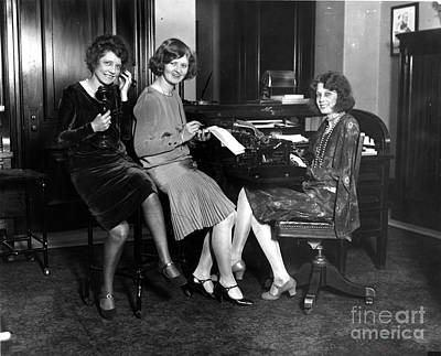 Secretarial Staff Of The Vice President Art Print by Photo Researchers