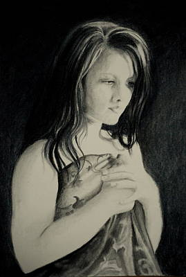 Drawing - Secrets by Lynn Hughes