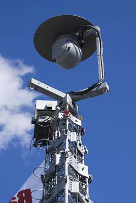 Civil Liberties Photograph - Security Camera On Tower. by Mark Williamson
