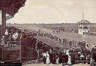 Painting - Sedalia Mo Fair Grounds Racetrack In 1920 by Dwight Goss
