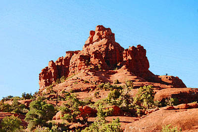 Digital Art - Sedona Arizona Bell Rock by Eva Kaufman