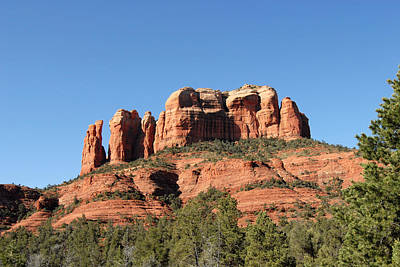 Digital Art - Sedona Cathedral Rock by Eva Kaufman