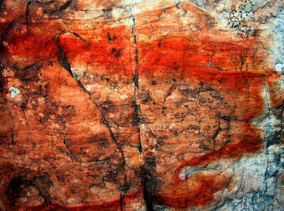 Photograph - Sedona Red Rock Abstract 2 by Peter Cutler