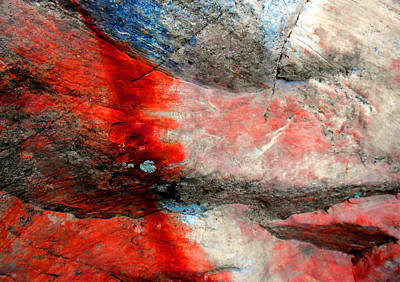 Abstract Expressionist Photograph - Sedona Red Rock Zen 2 by Peter Cutler