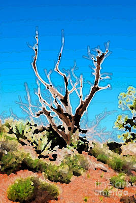 Digital Art - Sedona Twisted Juniper Tree by Eva Kaufman