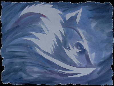 Seduction In Blue Art Print by Mark Schutter