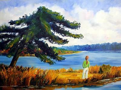 Karin Mueller Painting - Seeblick by Karin Mueller