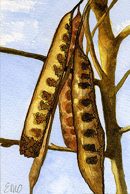 Painting - Seed Pods by Eunice Olson