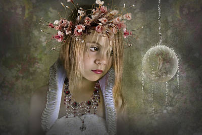 Flower Pink Fairy Child Photograph - Seeing Fairies by Ethiriel  Photography