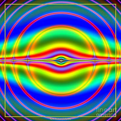 Seeing In Fluorescent Neon Fractal 135 Art Print by Rose Santuci-Sofranko
