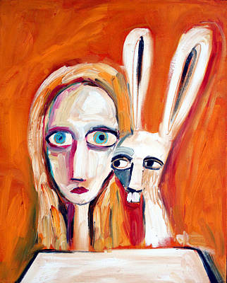 Tea Party Painting - Seeking by Leanne Wilkes