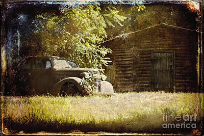Rural Decay Digital Art - Seen Better Days by Sari Sauls