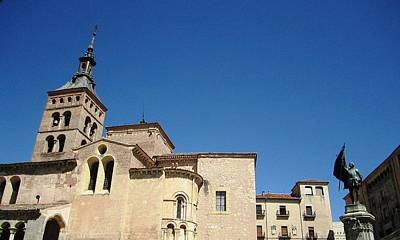 Photograph - Segovia Ancient Chapel Spanish Architecture And Blue Sky Spain by John Shiron