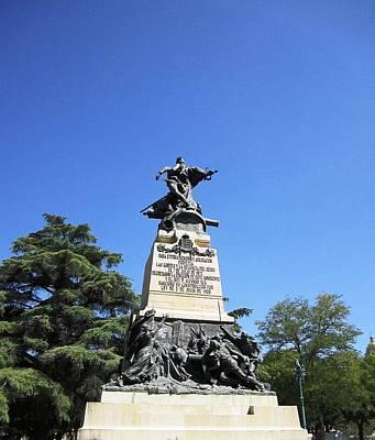 Photograph - Segovia Castle Statue Sculpture In Spain by John Shiron