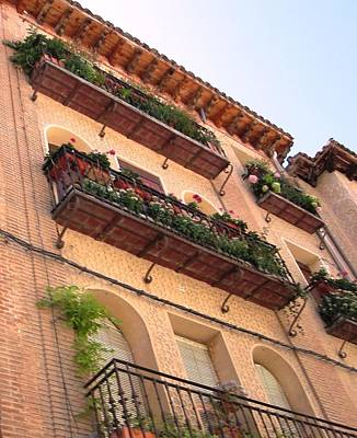 Photograph - Segovia Floral Design Balcony Architecture In Spain by John Shiron