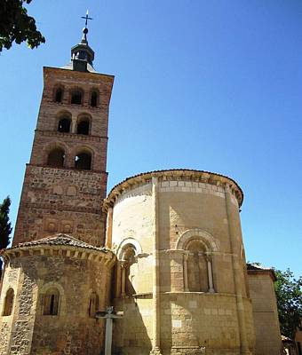 Photograph - Segovia Historic Alcazar Bell Tower Brick Architecture In Spain by John Shiron