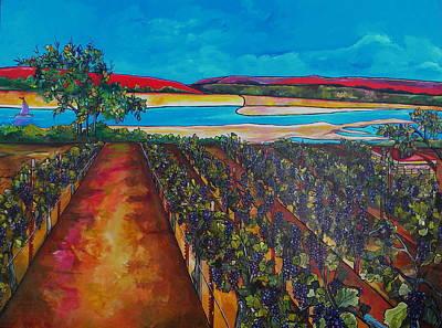 Painting - Seiferts Vineyard by Patti Schermerhorn