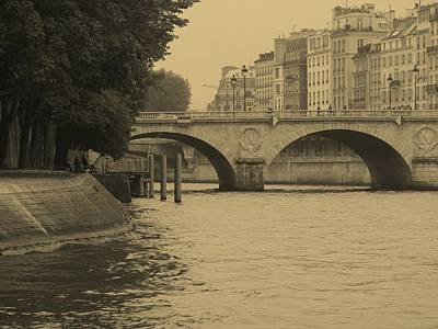 Photograph - Seine On Sepia by Diane Height