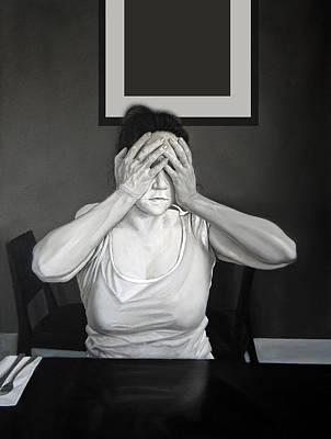 Self - Censure Art Print by Michael Harris