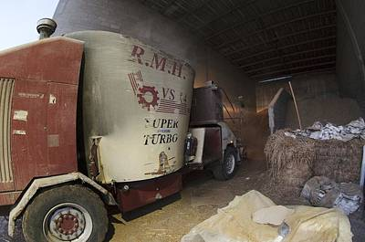 Self-driving Mixing Truck Art Print by Photostock-israel