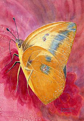 Self-actualization Painting - Self Esteem Butterfly by Charlotte Garrett