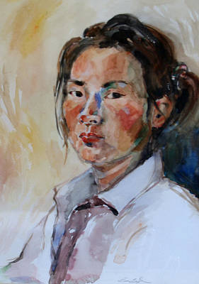 Painting - Self Portrait 1 - 2009 by Becky Kim