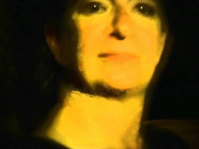 Self Shot Digital Art - Self Portrait 1 by Carolina Liechtenstein