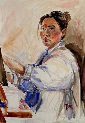 Painting - Self Portrait 2 - 2010 by Becky Kim