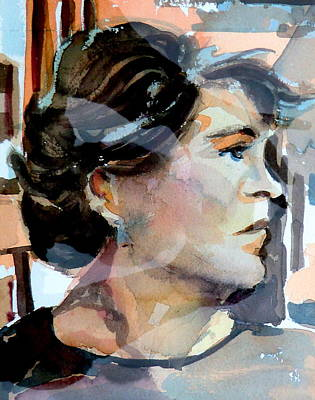 Thoughtful Drawing - Self Portrait 2002 by Mindy Newman