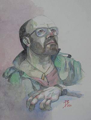 Self-portrait Drawing - Self-portrait 2005 by Ray Agius