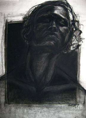 Print featuring the drawing Self Portrait 2008 by Gabrielle Wilson-Sealy