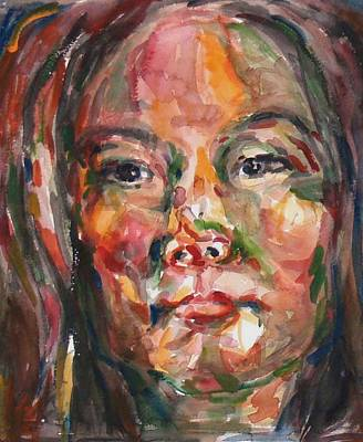 Painting - Self Portrait 3 by Becky Kim