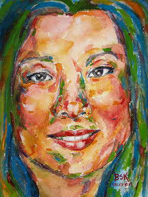 Painting - Self Portrait 5 by Becky Kim