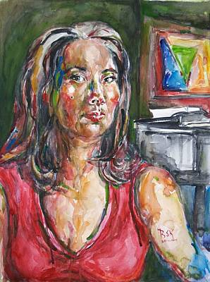 Self Portrait 8 Art Print by Becky Kim