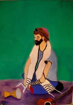 Pastel - Self-portrait by Eliezer Sobel
