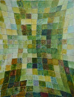 Excursion Mixed Media - Self Portrait Fields I by Bob Rowell