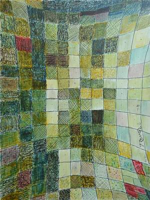 Excursion Mixed Media - Self Portrait Fields II by Bob Rowell