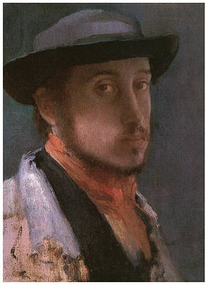 Self-portrait In A Soft Hat Art Print by Edgar Degas