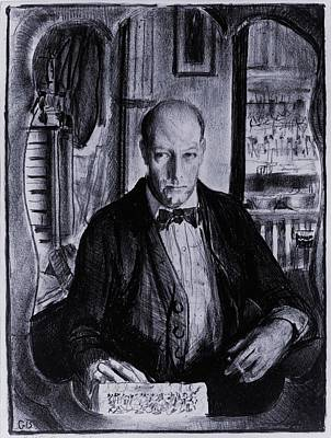 Realism Photograph - Self-portrait Of George Bellows by Everett