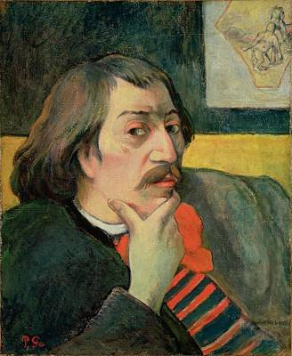 Chin Painting - Self Portrait by Paul Gauguin