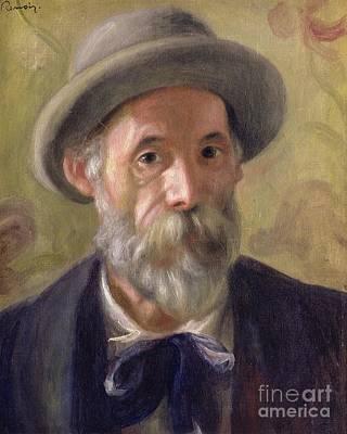 Black Tie Painting - Self Portrait by Pierre Auguste Renoir