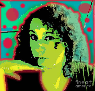 Self Portrait Pop Art Art Print by Christine Perry