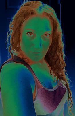 Portaits Digital Art - Self Portrait Sassy by Teri Schuster